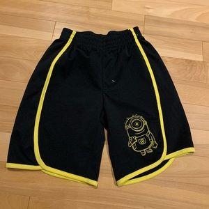 Boys Minion black & yellow shorts - size Small